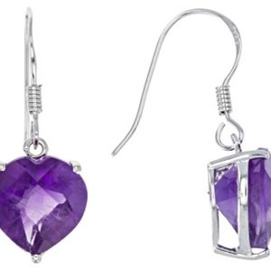JTV african amethyst sterling silver earrings